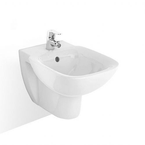 Roca Debba Wall Hung Bidet - Soft Close Bidet Cover - 1 Tap Hole - White